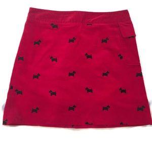 Lilly Pulitzer Red Velvet Scottie Dog Skirt